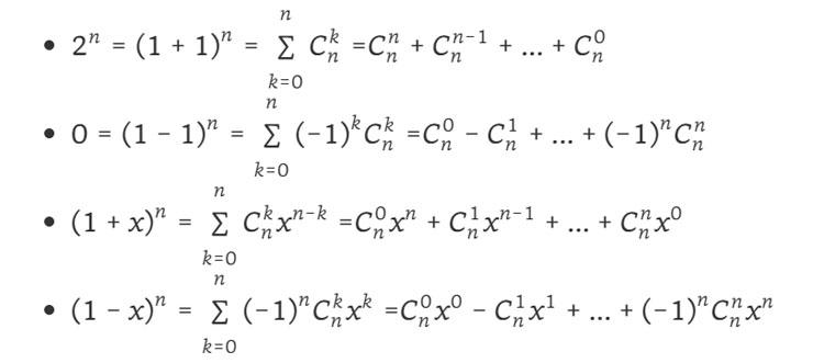 Một số công thức khai triển nhị thức Newton hay sử dụng